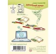 Leane Creatief - Lea'bilities und By Lene Stempel, Transparent, Leane Creatief, Laptop / Schule
