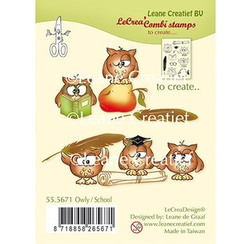 Leane Creatief - Lea'bilities und By Lene Stamp, Transparent, Leane Creatief, Owl School