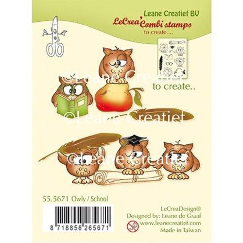Leane Creatief - Lea'bilities und By Lene Stempel, Transparent, Leane Creatief, Eule Schule