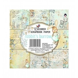 "decorer Decorer, Karten- und Scrapbook Papierblock, 15,2 x 15,2 cm, ""rabbit´s burrow"""