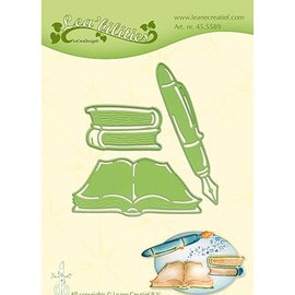 Leane Creatief - Lea'bilities und By Lene Troquelado por Leane Creative, libros y pluma.