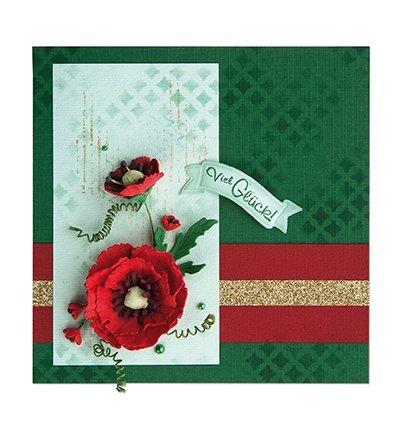 Pretty 3D poppies design til dekoration på kort, albums, scrapbog og mange andre objekter!