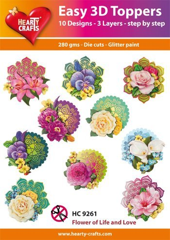 Video: 3D Easy Toppers, Blumen Artikel Dd4HC9261