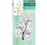 Penny Black Stamp motif, blooming hearts