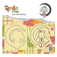 Stamping motif and punching template: bunny and moon