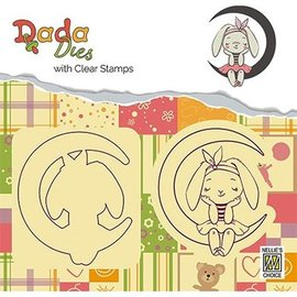 Penny Black Stamping motif and punching template: bunny and moon