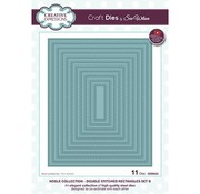 CREATIVE EXPRESSIONS und COUTURE CREATIONS cutting dies, rectangles with double embroidery lines