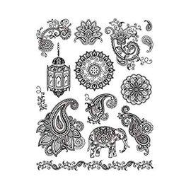 VIVA DEKOR (MY PAPERWORLD) Frimærke, Transparent, Indien motiver