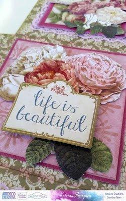 """Ein wundervolles Set, Rosendesigns aus der Kollektion """"C' est la Vie"""""""