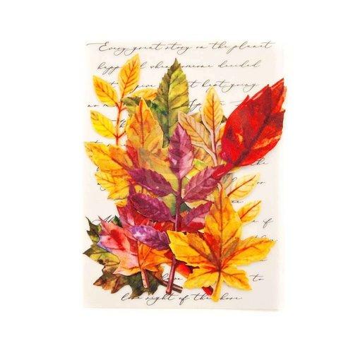 Prima Marketing und Petaloo Scrapbooking ornaments, autumn leaves