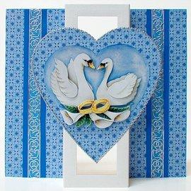 KARTEN und Zubehör / Cards 5 tarjetas: tarjeta emergente con 1 corazón, A6, tarjeta dual