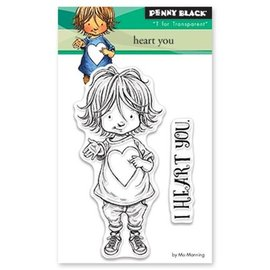 Penny Black Frimærke motiv, barn med hjerte
