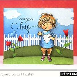 Penny Black Stempelmotiv, Kind mit Herz