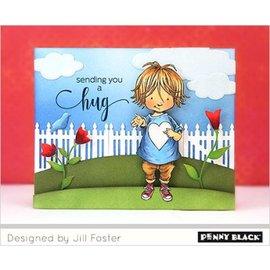 Penny Black Motivo del francobollo, bambino con il cuore