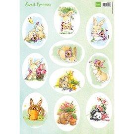 Marianne Design beeldjes A4 Sweet Bunnies