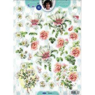 Studio Light A4 gestanste strik, bloemen