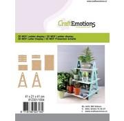 Holz, MDF, Pappe, Objekten zum Dekorieren MDF Leiter Display, 41 x 21 x 41 cm