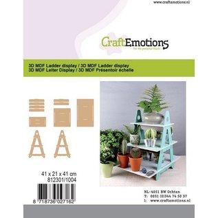 Holz, MDF, Pappe, Objekten zum Dekorieren MDF-ladderdisplay, 41 x 21 x 41 cm
