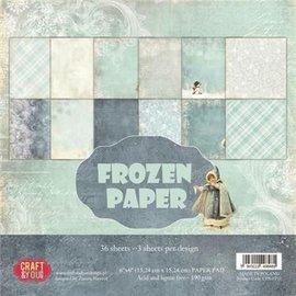"Karten und Scrapbooking Papier, Papier blöcke Cards and scrapbook paper, 15.5 x 15.5 cm, ""Frozen Paper"""