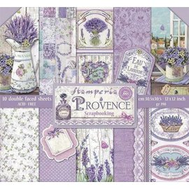 """Stamperia Karten- und Scrapbook Papierblock, Format 30,5 x 30,5 cm, """"Provence"""""""