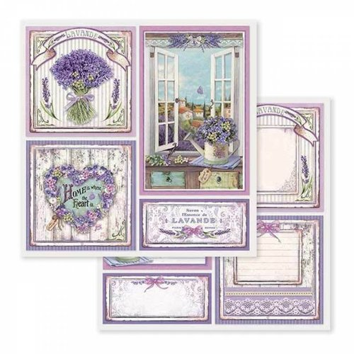 "Stamperia Card and scrapbook paper block, size 30.5 x 30.5 cm, ""Provence"""
