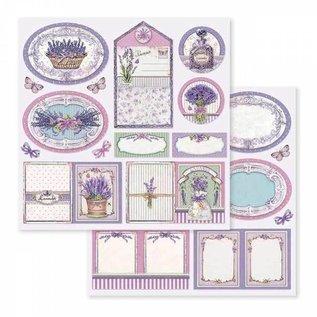 "Stamperia und Florella Kaart- en plakboekblok, afmeting 30,5 x 30,5 cm, ""Provence"""