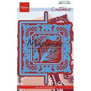 Marianne Design Snijmallen, Marianne Design, Anja's verticale vouwlijn (vierkant)