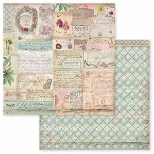 """Stamperia und Florella Card and scrapbook paper block, size 30.5 x 30.5 cm, """"Botanica"""""""