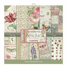 "Stamperia und Florella Kaart- en scrapbook blok, afmeting 30,5 x 30,5 cm, ""Botanica"""