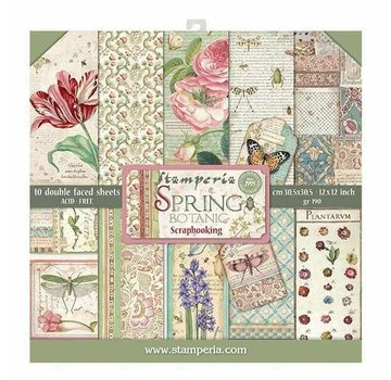 """Stamperia Karten- und Scrapbook Papierblock, """"Spring Botanic"""" Stamperia"""