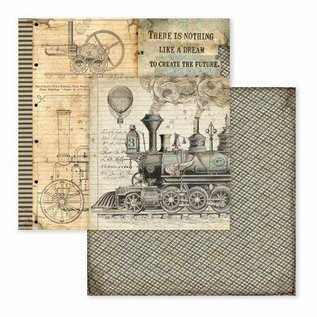 Stamperia Card and scrapbook paper block, size 30.5 x 30.5 cm, Voyages Fantastiques