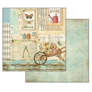 Stamperia und Florella Card and scrapbook paper block, size 30.5 x 30.5 cm, Garden