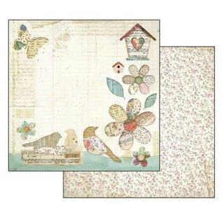 Stamperia und Florella Kaart en scrapbookblok, Stamperia, afmeting 30,5 x 30,5 cm, tuin