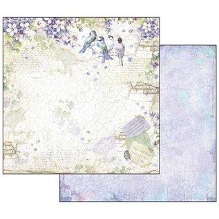 """Stamperia und Florella Card and scrapbook paper block, size 30.5 x 30.5 cm, """"Flower Alphabet"""""""