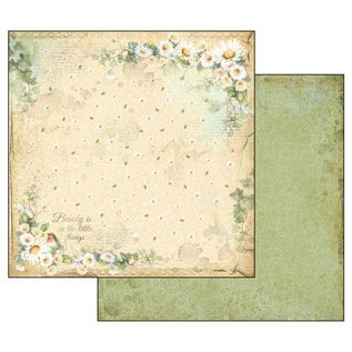"""Stamperia und Florella Kaart en scrapbookblok, Stamperia, afmeting 30,5 x 30,5 cm, """"Flower Alphabet"""""""