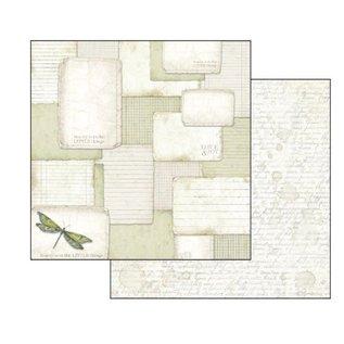 "Stamperia und Florella Card and scrapbook paper block, size 30.5 x 30.5 cm, ""Letters & Flowers"""