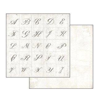 """Stamperia und Florella Kaart en scrapbookblok, Stamperia, afmeting 30,5 x 30,5 cm, """"Letters & Flowers"""""""