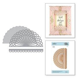 Leane Creatief - Lea'bilities und By Lene Matrices de découpe, relieurs d'orthographe, relieurs d'orthographe Vintage Cantonnière Starburst et Gatefold (S4-985)