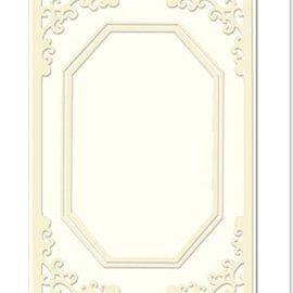 KARTEN und Zubehör / Cards Carte passepartout Mini con scollatura ottagonale, misura A8, crema