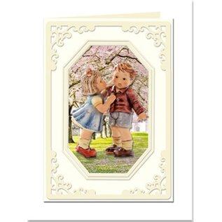 KARTEN und Zubehör / Cards Passe-partout kaarten Mini met achthoekige halslijn, maat A8, crème