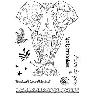 CREATIVE EXPRESSIONS und COUTURE CREATIONS Pink Ink Desings: Set Elephant, stamp A5, da disegnare per 3D Scene!
