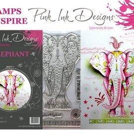 CREATIVE EXPRESSIONS und COUTURE CREATIONS Pink Ink Desings: Set Elephant, Frimærke A5, til design ved 3D Scene!