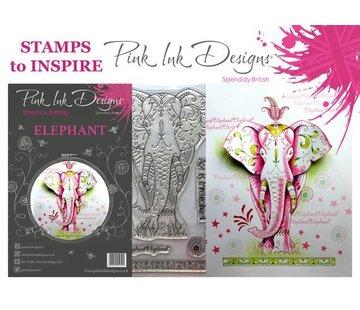 CREATIVE EXPRESSIONS und COUTURE CREATIONS Pink Ink Desings: Set Elephant, tampon A5, conçu par 3D Scene!
