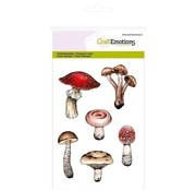 Crealies und CraftEmotions Stamp motif, mushrooms