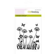 Crealies und CraftEmotions Stamp motif, field flowers