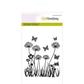 Craftemotions Frimærke motiv, felt blomster