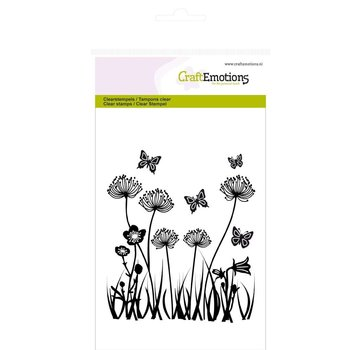 Crealies und CraftEmotions Stamp motif, field flowers