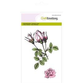 Craftemotions Sello estampado, rosas botánicas.