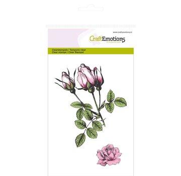 Crealies und CraftEmotions Motivo del timbro, rose botaniche