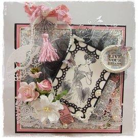 Marianne Design Stemplet motiv, Victorian Vintage. Tilbage på lager!
